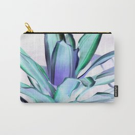 Lavender Seafoam Mint Plant Leaves Abstract Carry-All Pouch