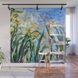 Claude Monet Yellow Irises and Malva Wall Mural