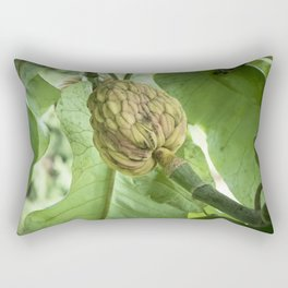 Bigleaf Magnolia Fruit Rectangular Pillow