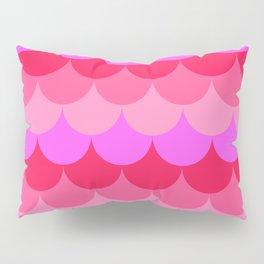 Scalloped Confetti in Neon Coral Reef Pillow Sham
