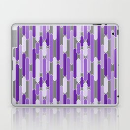 Modern Tabs in Purple and Lavender on Gray Laptop & iPad Skin