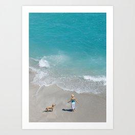 Morning on Clifton Beach Art Print