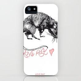 love rat iPhone Case