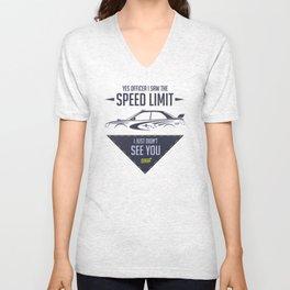 STI speed limit Unisex V-Neck