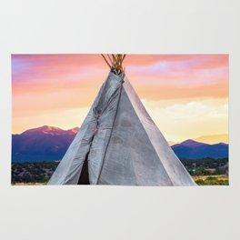 Southwest Sunset with Teepee Rug