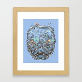 What Lurks Beneath Framed Art Print