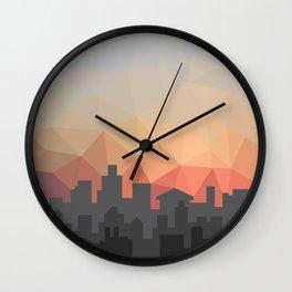 Sunset Cityscape Wall Clock