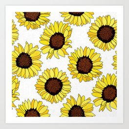 Sunflowers are the New Roses! - White Art Print