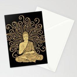 Mandala Golden Buddha Stationery Cards