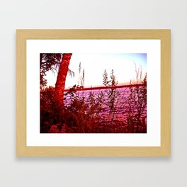 Red Glow Framed Art Print