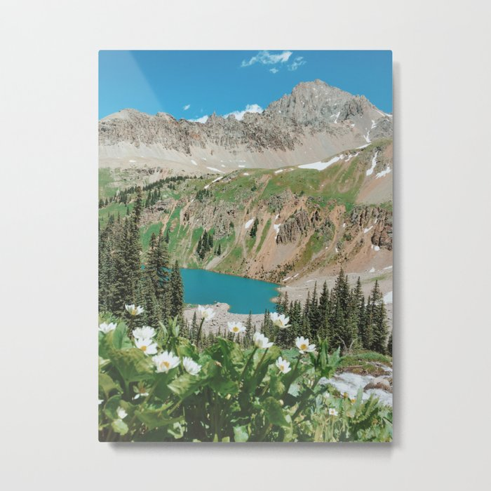 The Blue Lakes of Colorado Metal Print
