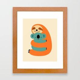 Stick Together Framed Art Print