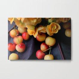 Cherry Gold Metal Print