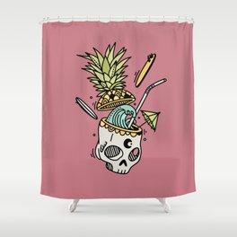 PinaSkullada | Color Shower Curtain