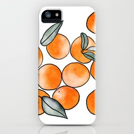 Watercolor Clementines iPhone Case