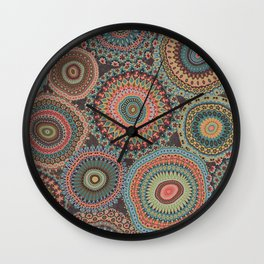 Boho Patchwork-Vintage colors Wall Clock
