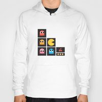 pac man Hoodies featuring pac man by pixel.pwn | AK