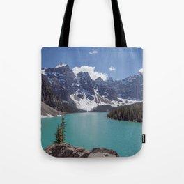 Lake Moraine Top View Tote Bag