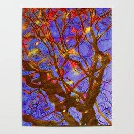 Urban Painting 123 - Purple Poster
