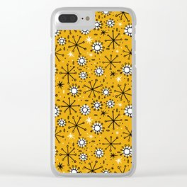 Mid Century mustard Clear iPhone Case