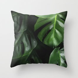 Monstera Plant Throw Pillow