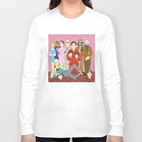 tenenbaums Long Sleeve T-shirts featuring Royal Tenenbaums Family Portrait  by AnaMF