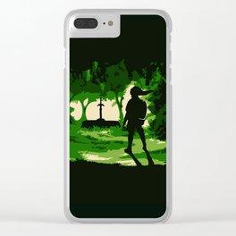 link zelda art Clear iPhone Case