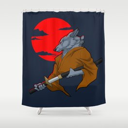 Wolf Samurai Shower Curtain