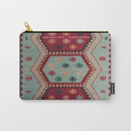V31 Traditional Colored Moroccan Carpet. Carry-All Pouch