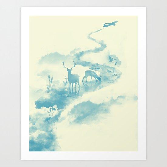 Jetstream Art Print
