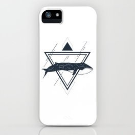 Cosmic Whale. Geometric Style iPhone Case