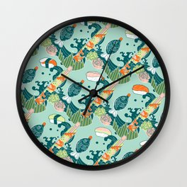 Sushi take-out! Wall Clock