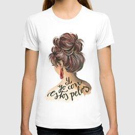 Fashion illustration Y yo con estos pelos T-shirt