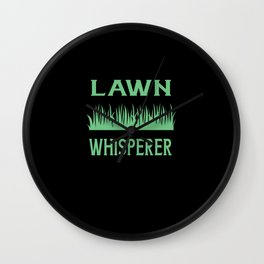 Lawn Whisperer Wall Clock