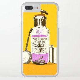 MUSIC IS MEDICINE Clear iPhone Case