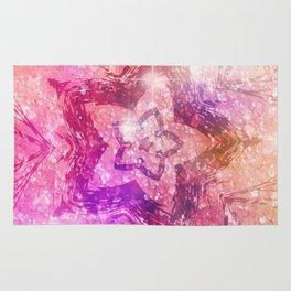 Pink Sparkle Star Rug