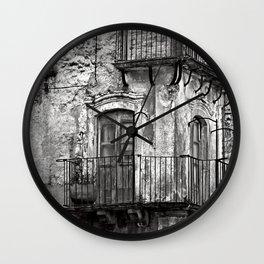 SICILIAN MEDIEVAL FACADE Wall Clock