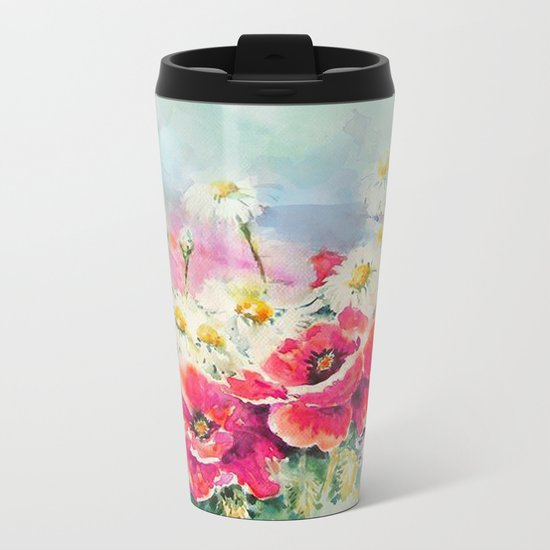 Poppies 07 Metal Travel Mug
