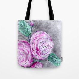 The pink roses Tote Bag