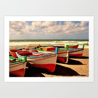 boats Art Prints featuring boats by  Agostino Lo Coco