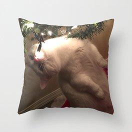 Meowy Christmas 2 Throw Pillow