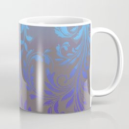 Ombre Damask Purple and Blue Coffee Mug
