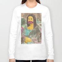mona lisa Long Sleeve T-shirts featuring Mona Lisa by GOONS