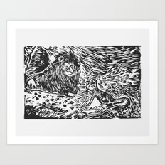 The Lion, the Fox, and the Beasts Art Print