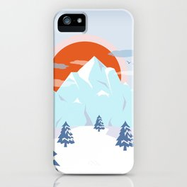 Winter breeze in Alpes iPhone Case