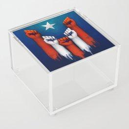 Puerto Rico power of the people Acrylic Box