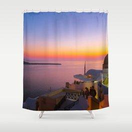 Sunset in Oia,Santorini Shower Curtain