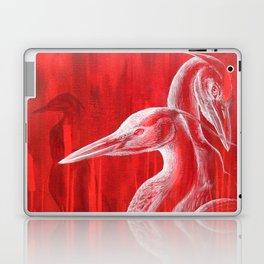 Red Blue Herons  Laptop & iPad Skin