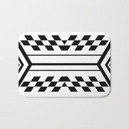Inverted Black & White Symmetrical Bath Mat