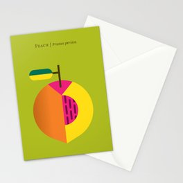 Fruit: Peach Stationery Cards